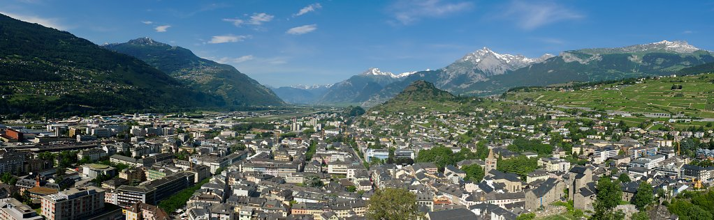 Sion, Switzerland Panorama